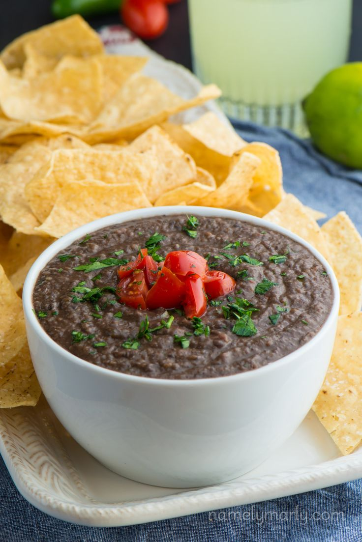 Make up a batch of this Easy Black Bean Dip with less than 10 ingredients and you'll be enjoying a health, fresh, and flavorful dip with friends in no time!