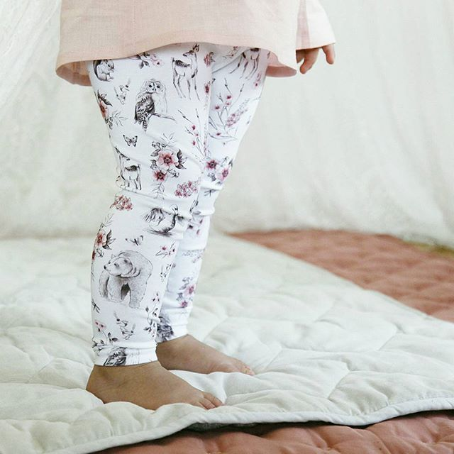 It's all about the details! Which little woodland animal is your favourite? Lulu and Milly. Organic girls leggings. Australian Made
