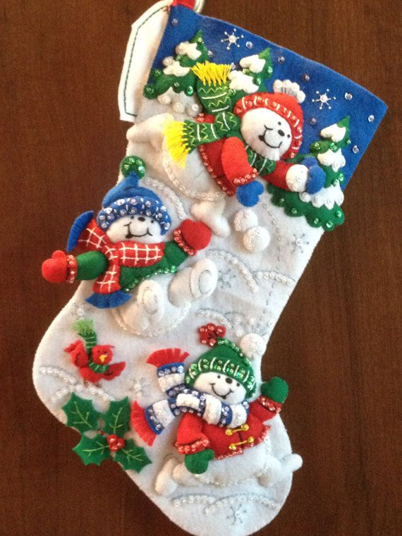 Fun In The Snow Bucilla Christmas Stocking by MonkeyGrassDesigns