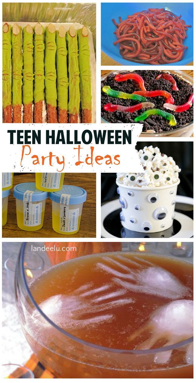 Teen Halloween Party Ideas   Games, Themes, Printables, Recipes and Tutorials - Great for TWEENS too!  landeelu.com #halloweenpartyideas