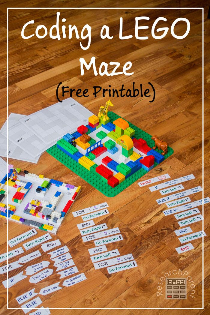 Coding Activity for Kids - Free, printable teaches kids the fundamentals of computer programming without using a computer. Maze can optionally be constructed with LEGOS or DUPLOS.