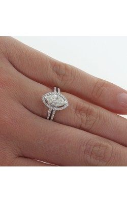 18ct white gold 1.11ct marquise diamond ring from Walker and Hall Jeweller - Walker & Hall