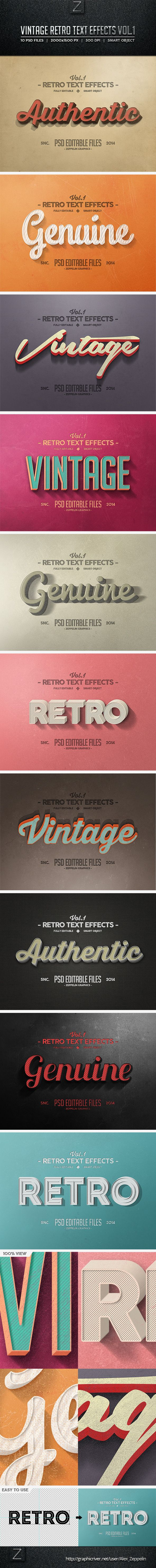 Vintage Text Effects Vol.1 - Text Effects Actions