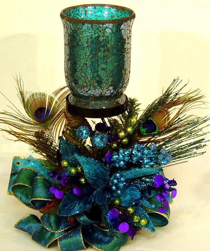 Best 20 peacock centerpieces ideas on pinterest peacock - Peacock arrangements weddings ...
