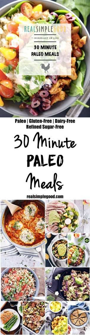Our 30 minute Paleo meals cookbook features 30 simple and healthy Paleo meals…