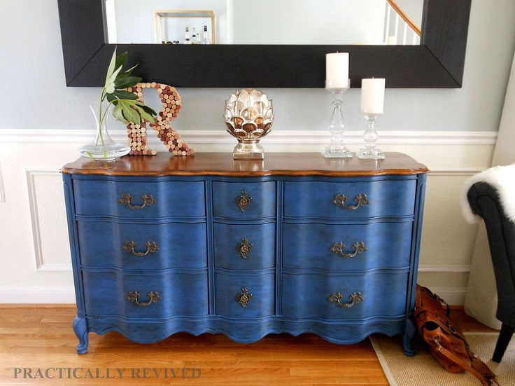 This Craigslist dresser just needed a bit  of refinishing to make it shine.