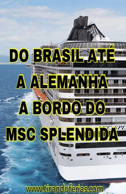 Confira a experiência de fazer uma travessia de navio, saindo de Santos no Brasil, até Hamburgo na Alemanha. São 20 dias repletos de atividades a bordo do transatlântico e parando para conhecer diversas cidades da Europa.