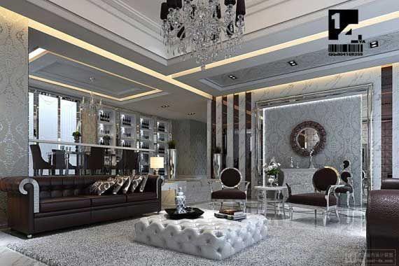 Wow! black gold grey room designs | ... Art Deco Living Room Ideas Image 551 Art Deco Living Room Design Ideas