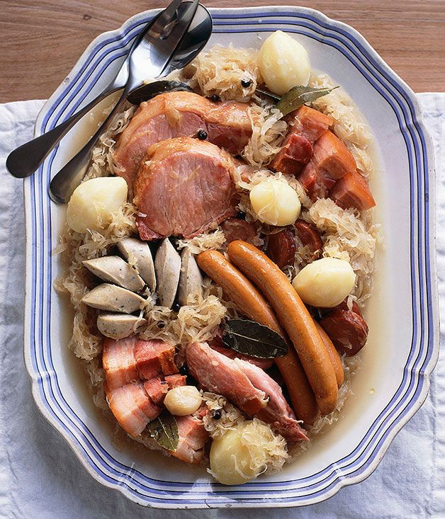 Australian Gourmet Traveller French main course recipe for choucroute Garnie