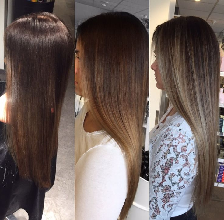 3 different colors, 1 client. #wella #illumina #longhair #hair #hairinspo #balayage #sombrè #sombre #ice #icecold #fresh