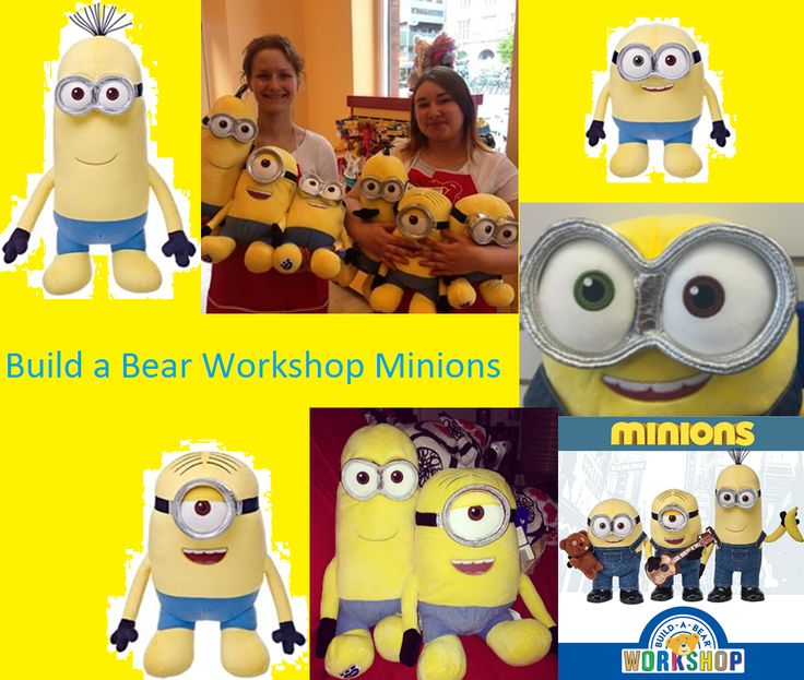 This Is All Of The Minions Coming Out At Build A Bear On May 22nd 2015 Kevin Stuart And Bob Stars Minion Movie Are In Before Their