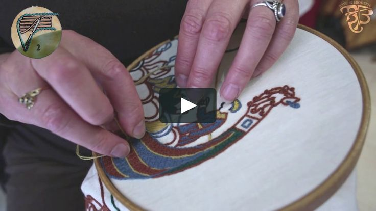 this video show how to embroid the Bayeux's stitch used in the Bayeux's tapestry. Presentation to the workshop : bayeux broderie in french at bayeux