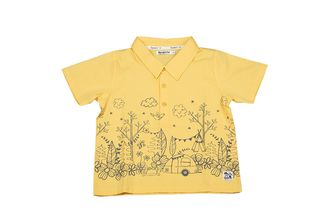 Camping days polo shirt for children in organic cotton available online at Dress My Baby