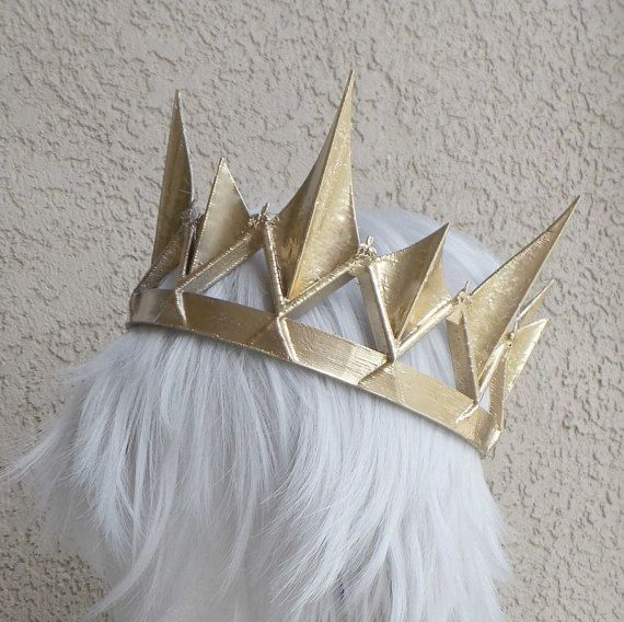 Gold crown Ravenna Inspired Adult queen crown 3d by MudandMajesty