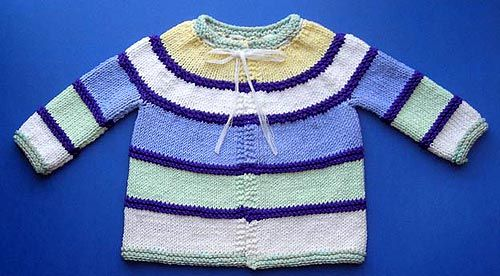 Knitting Pattern For One Piece Baby Sweater : 17 Best images about Baby Girl - Cardigans Round Yoke on ...