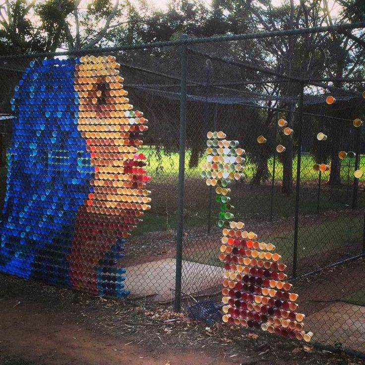 Hyde-and-Seek-street-art Incredible plastic cup installations