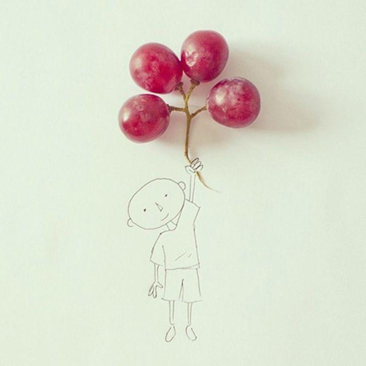 De Ecuadoraanse illustrator Javier Pérez maakt de mooiste tekeningen, waarvoor hij zich steeds laat inspireren door een alledaags object zoals een stukje fruit of een paperclip.