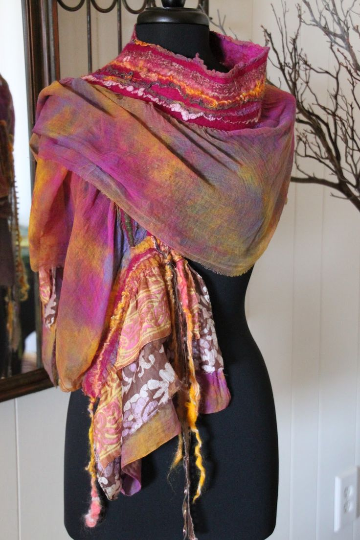 Cashmere Silk Scarf - OhOh fashion Silk Scarf P by VIDA VIDA