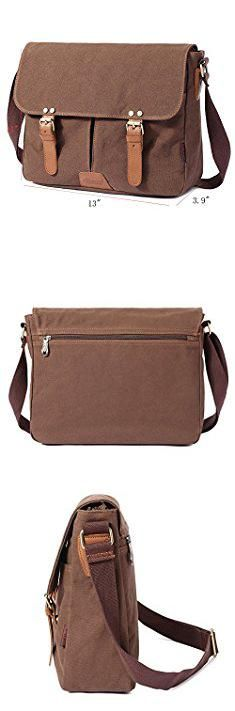 Best Mens Messenger Bags. Vintage Men Messenger Bag, Kaukko Canvas Crossbody Shoulder Bags Laptop Briefcase Coffee.  #best #mens #messenger #bags #bestmens #mensmessenger #messengerbags