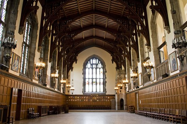 Hart House Great Hall at U of Toronto.  I was in the amateur symphonic band that practiced in this hall.  Hart House has so many great spaces, but this is one of my favorites.