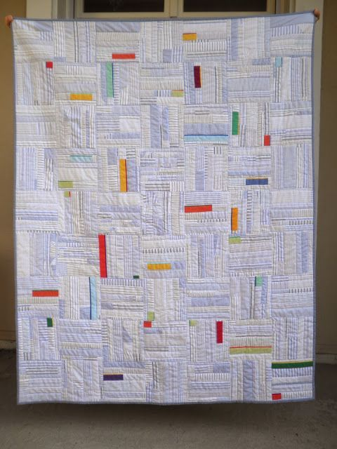 """Such a beautifully understated """"Steps III"""" quilt by Pasqualina. (Enlarge this pin to really see it!)"""
