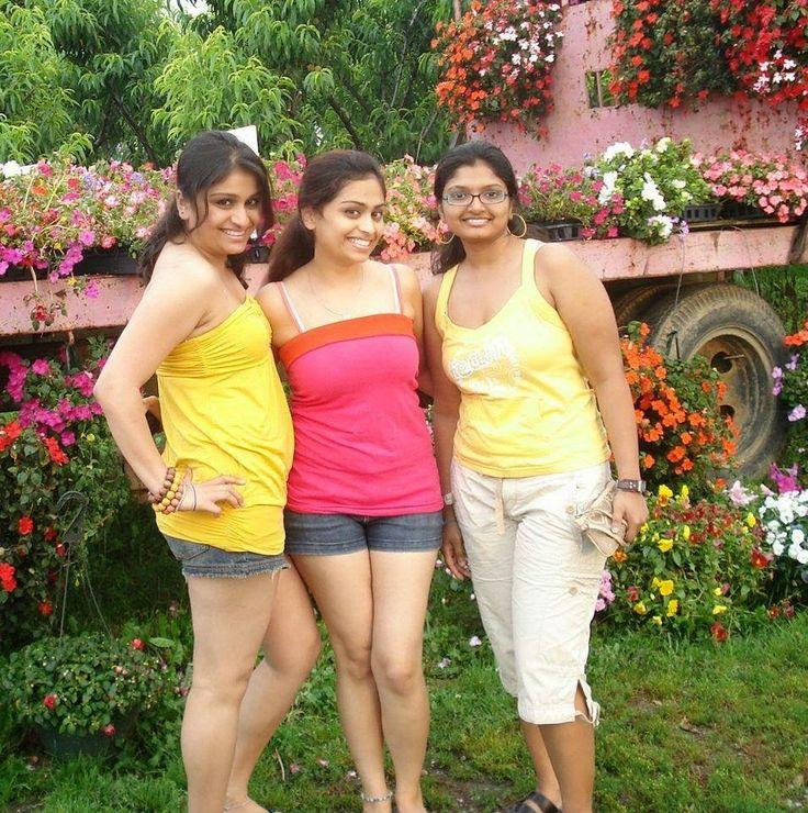College girls in mini skirts