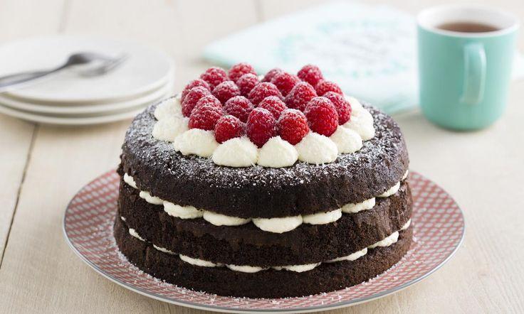 Kokos Chocoladetaart met frambozen recept | Dr. Oetker
