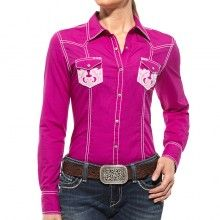 Ariat Western Shirt Womens Hazel Long Sleeve Snap Rose