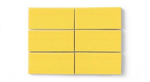 3 x 6 Daffodil Tile   Eco-Friendly Handmade Tile   Fireclay Tile