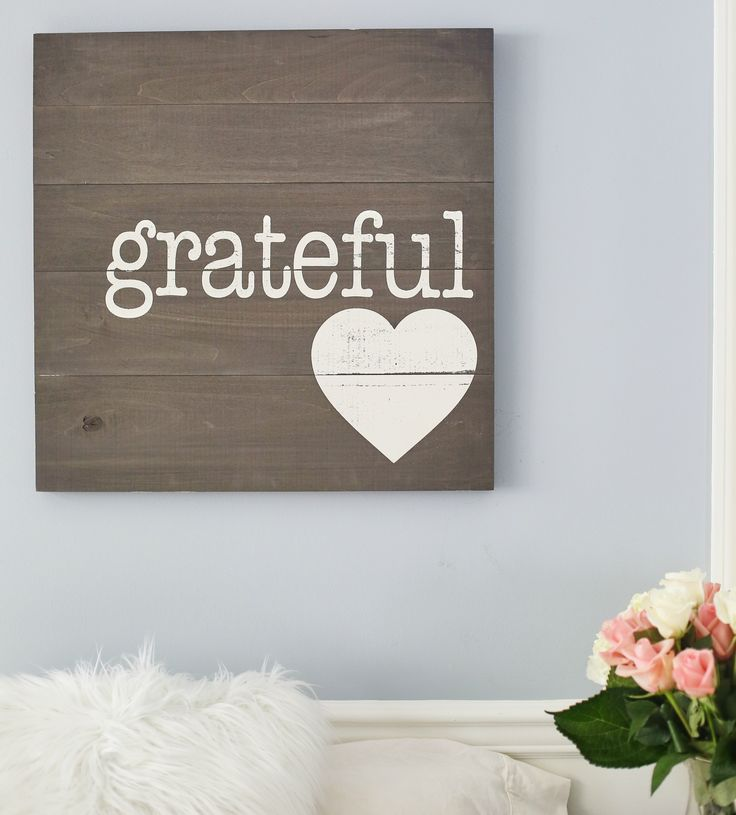 Grateful large sign signs wall art gifts home decor