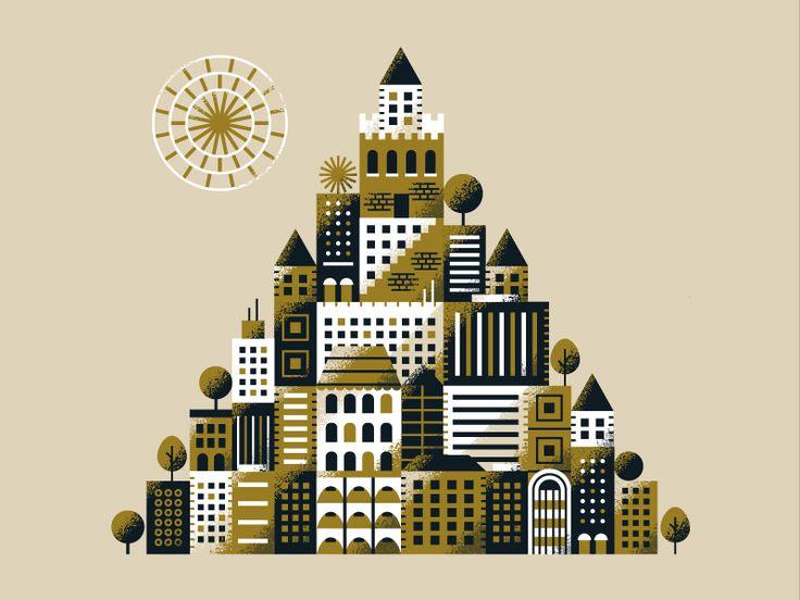 Cityscape (Pyramid) by Matt Carlson