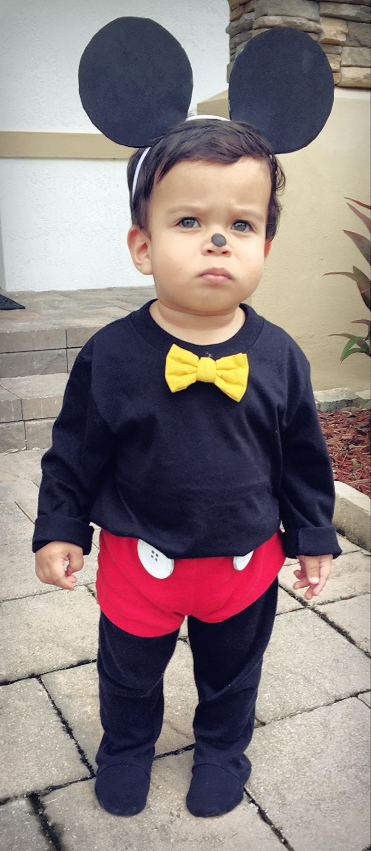 DIY Mickey Mouse Toddler Costume
