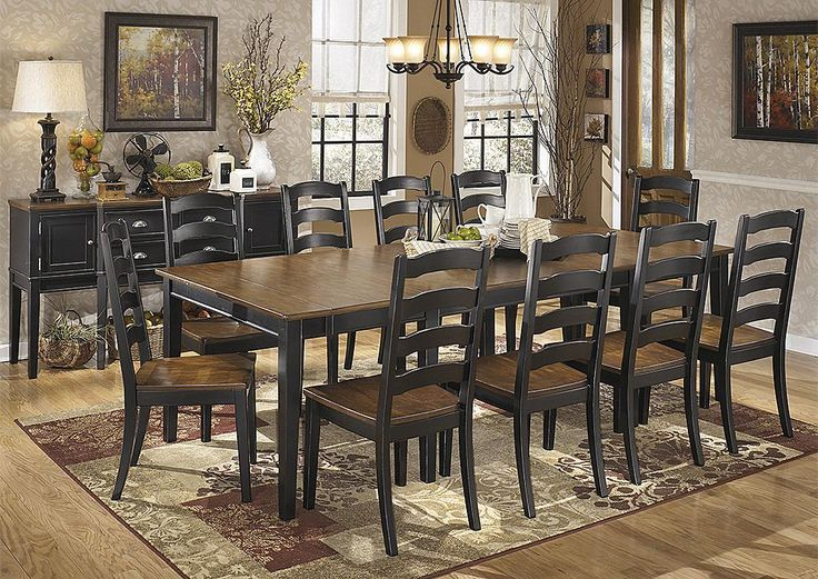 Signature Design by Ashley Owingsville Dining Room Extension Table Set    Knoxville Wholesale Furniture   Dining 7  or more  Piece S. 16 best Diningroom images on Pinterest   Dining chairs  Dining