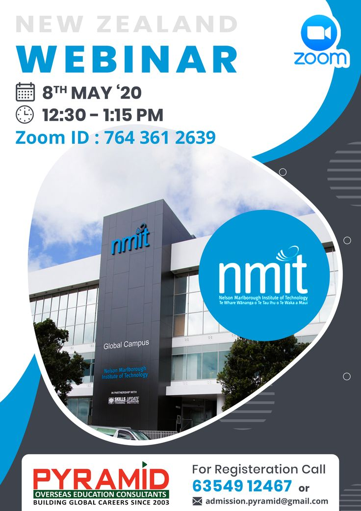NMIT Webinar in 2020 Overseas education, Educational