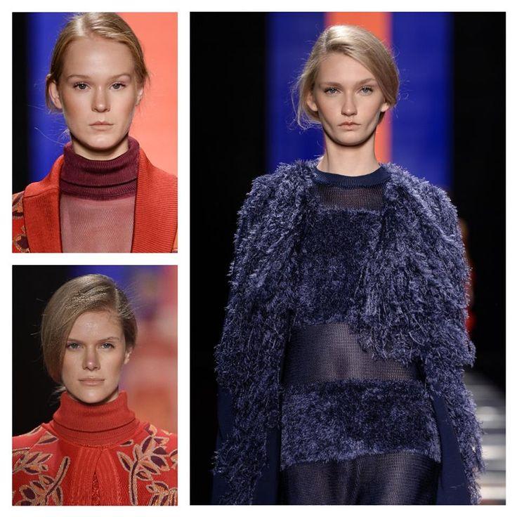 Tons quentes, mix de estampas e o luxo moderno do marabu no inverno 2015 da Faven- Tricotar, verbo conjugado no pretérito-perfeito