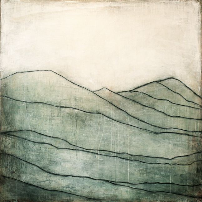 Karine Léger - Blue Mountain I, 2013 - Acrylic on canvas-this is the color I want for my office walls.