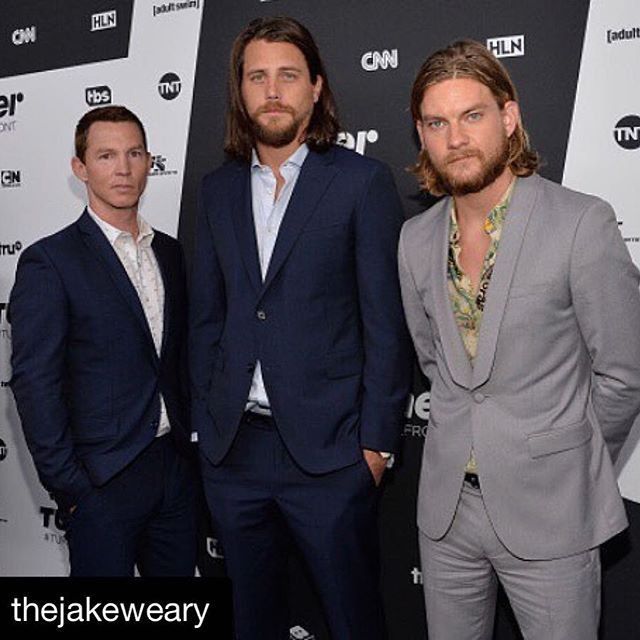 From left:  Shawn Hatosy, Ben Robson, and Jake Weary  #upfronts2016 #TNT #AnimalKingdom