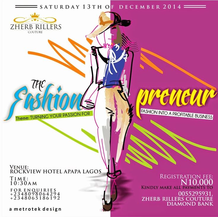 fotofashion : How to turn your passion for fashion into a profit...