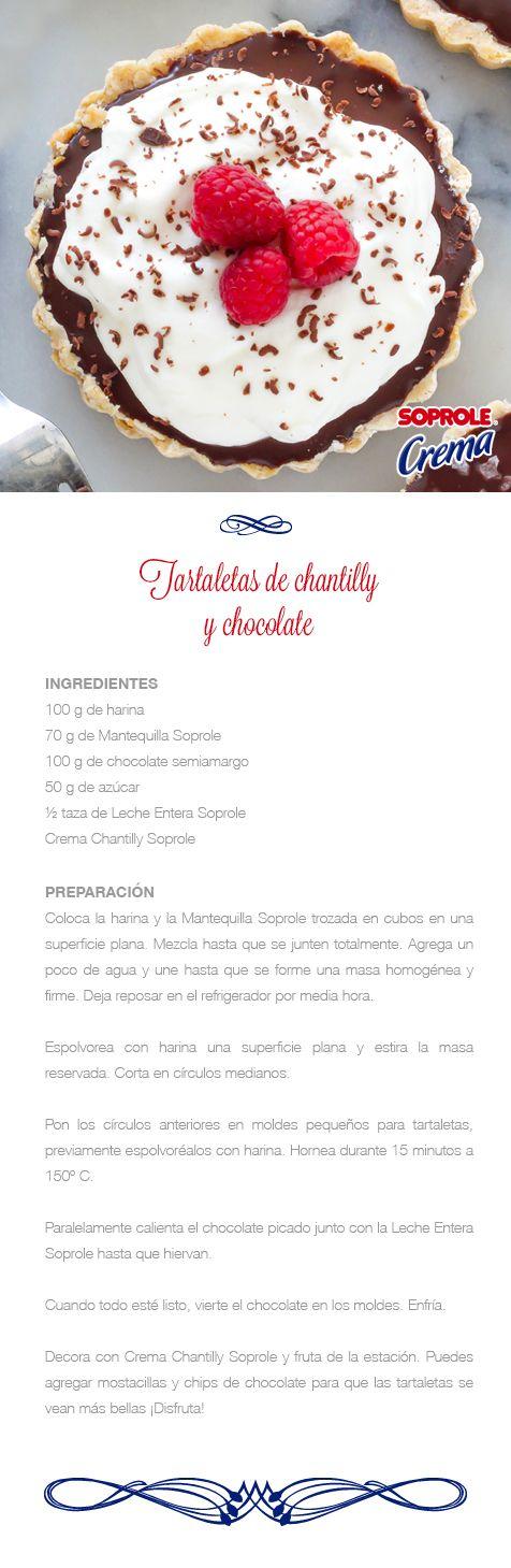 Tartaletas de Chantilly y Frambuesas