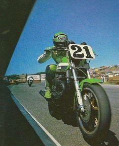 Eddie Lawson on the factory Kawasaki GPz, AMA Superbike.