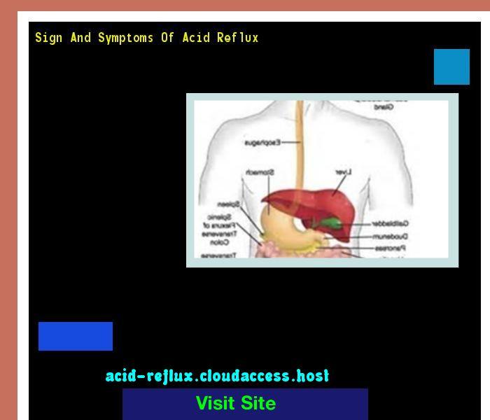 Sign And Symptoms Of Acid Reflux 101106 - Acid Reflux No More. Acid Reflux Cure.