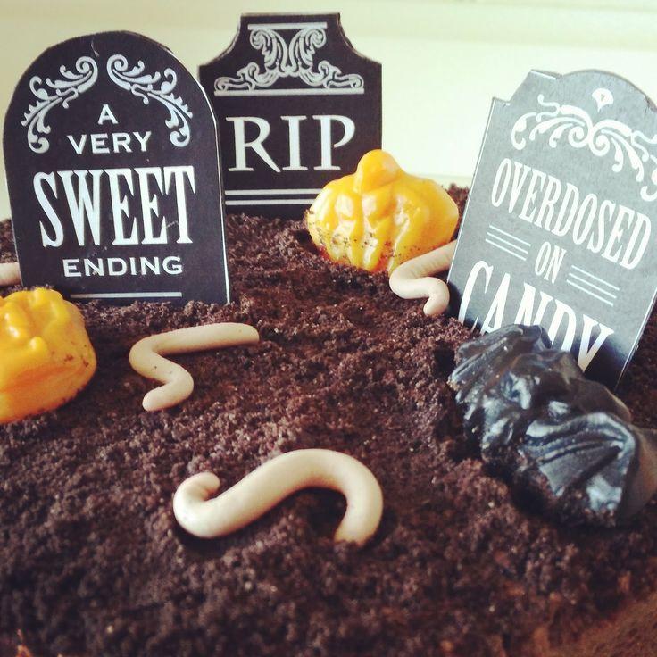 Receta Bizcocho cementerio de Halloween