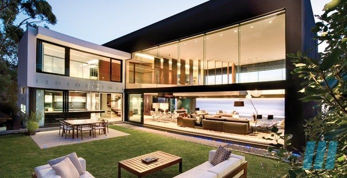 FutureSpaces - Nettleton 199 - Clifton. The house is on several levels, an emotional and sensorial journey when moving through the house was created between the Architecture and the Interiors. The location, the incredible geography and astounding views provide drama at every turn.