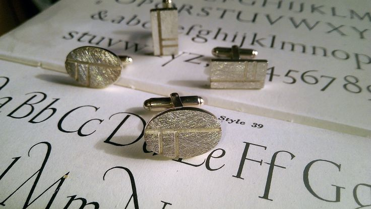 Ogham Cufflinks...... Oak...