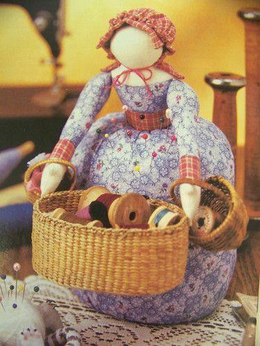 Too Sweet - Pincushion Pattern Sunbonnet Doll   eBay - just the idea