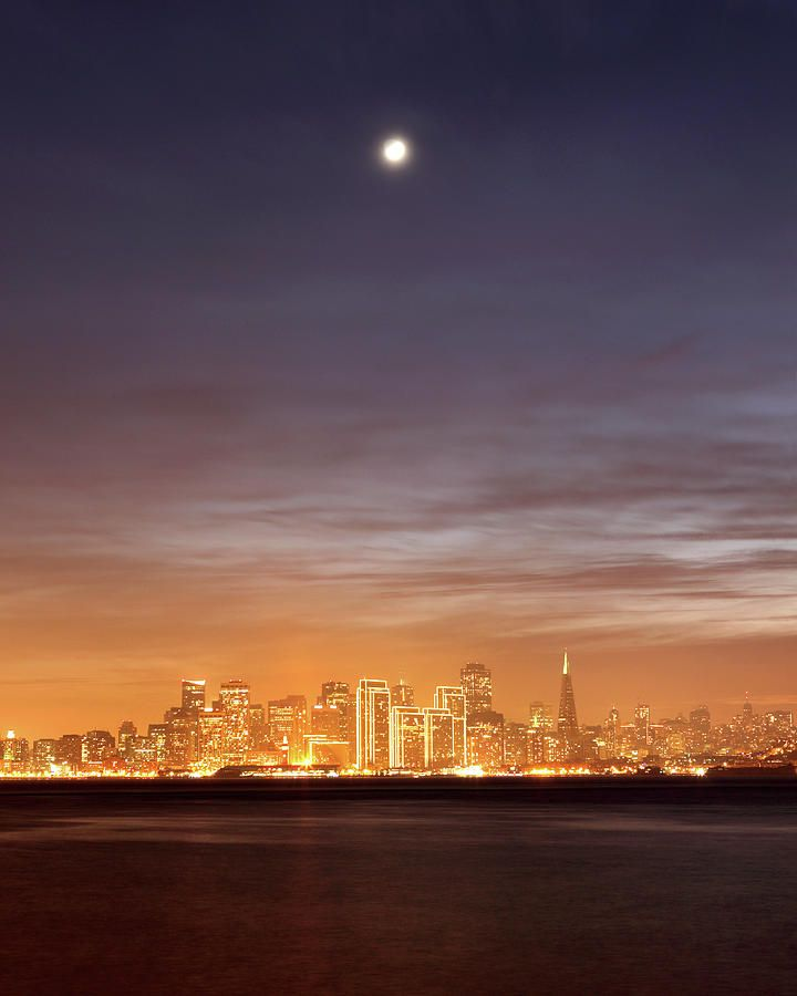 Moon And Sf From Treasure Island Canvas