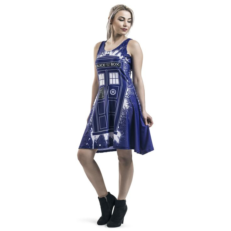 Tardis Graffiti - Kurzes Kleid von Doctor Who