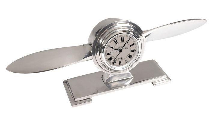 Clock - PROPELLER - Aluminium