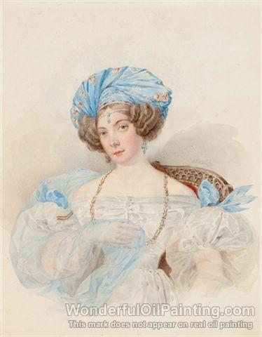 Sofje Alexandrovna Urusova (1804-1889) 1830  Artist: Briullov (Brullov Brulloff), Alexander Pavlovich (Russian, 1798-1877)