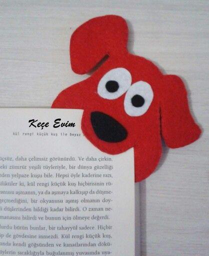 Keçe ayraç /bookmarks  Keçe evim